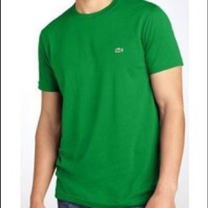 Men's Lacoste Pima cotton t-shirt green.